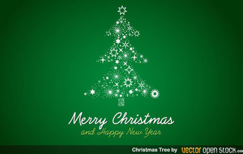 Christmas Tree - vector gratuit #174691