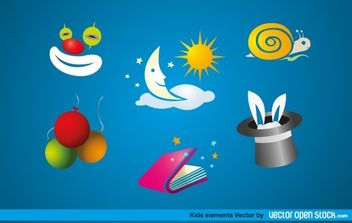 Kids Elements - vector gratuit #174721