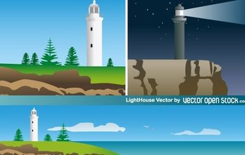 Light House - vector gratuit #174741