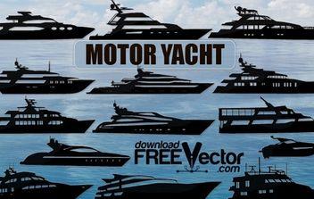 Vector Motor Yacht - Free vector #174771