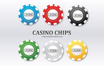 Casino Poker Chips - vector gratuit #174811