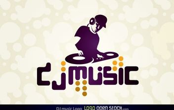 DJ Music Logo - Free vector #174851