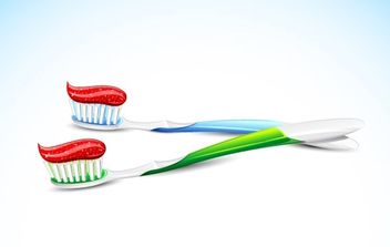 Toothbrush Vector - Free vector #174891