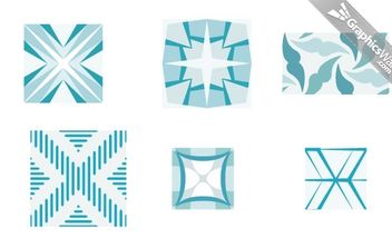 GEOMETRIC VECTOR PATTERN SET 05 - Free vector #174971
