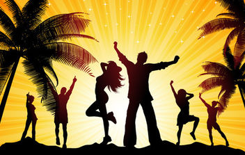 Evening Beach Party - Free vector #175071