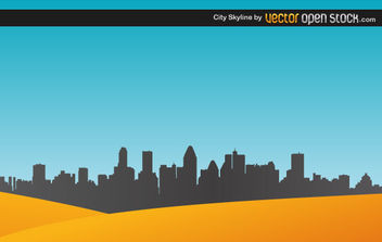 City Skyline with sand - Free vector #175121