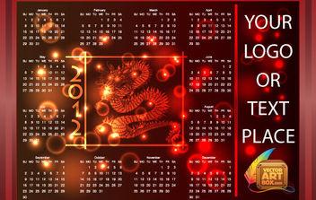RED DRAGON CALENDAR 2012 - Free vector #175161