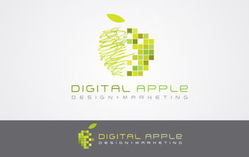 Digital Apple - vector gratuit #175181