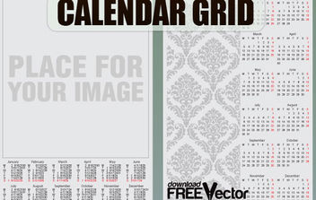Free Vector Calendar Grid Template - Free vector #175231