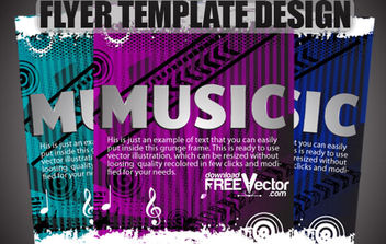 Free Vector Flyer Template Design - vector gratuit #175241