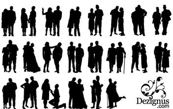 Couple Silhouette Clipart - Free vector #175301
