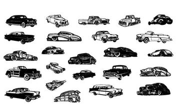 Vector Retro Cars - Free vector #175321