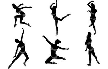Dancing Girl Silhouettes - бесплатный vector #175331