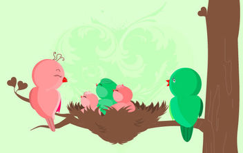 Baby Birds - Free vector #175431