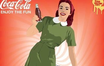Coca-Cola Poster - бесплатный vector #175511