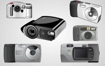 Realistic Vector Cameras - Free vector #175631