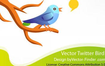Free Vector Twitter Bird - Free vector #175781