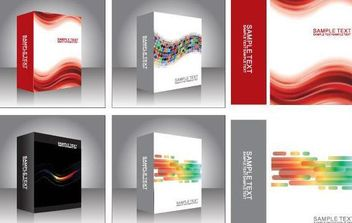 Free Vector Software Product Packing Templates - Free vector #175811