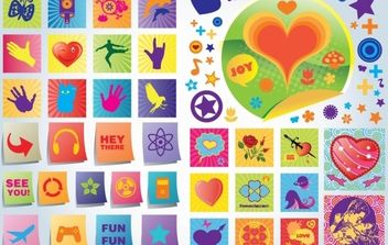 Fun Love Vector Icons - vector gratuit #175911