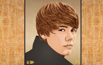 Justin Bieber Wanted Poster - Free vector #175921