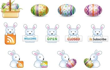 Free Easter Bunny Vector Icons - Free vector #175941
