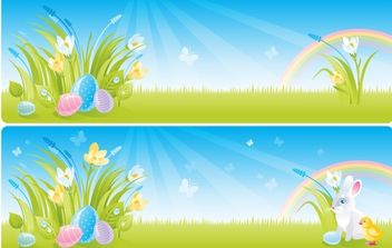 Spring Easter Vectors - Free vector #175951