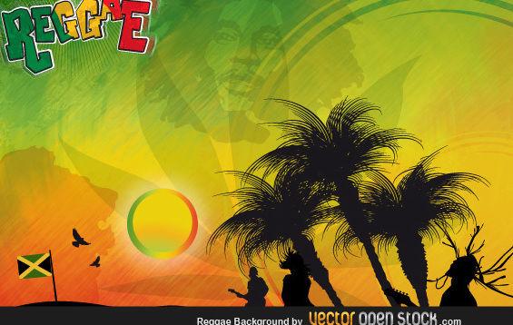 Reggae Background - Free vector #176041