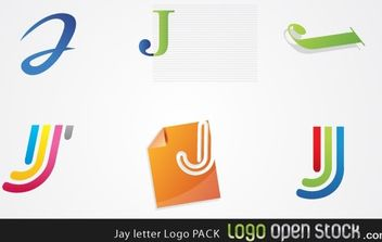 Jay Letter Logo Pack - Kostenloses vector #176081
