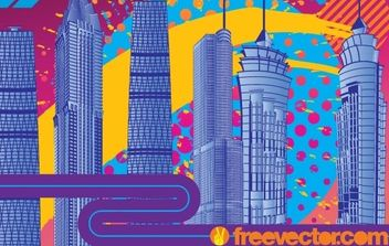 City Fireworks - Free vector #176261