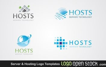 Server & Hosting Logo Templates - vector gratuit(e) #176331