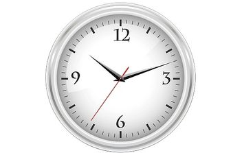 White office clock - Free vector #176511