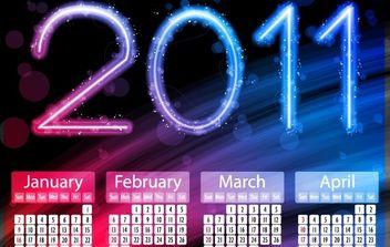 2011 Calendars - Kostenloses vector #176541