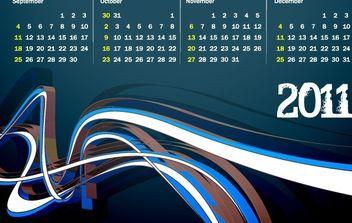 2011 Vector Calendar - Kostenloses vector #176561
