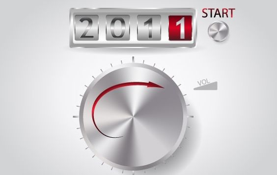 2011 Year - Free vector #176571