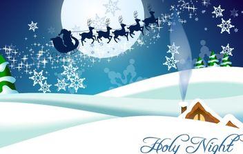 Winter, Christmas, Santa Claus, Reindeer Vectors - Free vector #176721