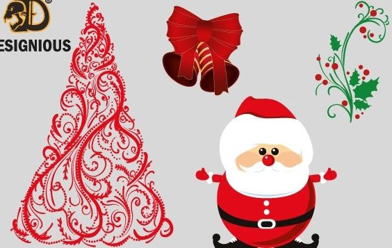 Vector christmas elements - Kostenloses vector #176741