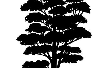 Tree Silhouettes clip art - Free vector #176801