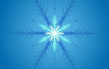 Snow Crystal - vector #176871 gratis