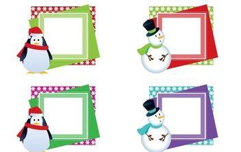 CHRISTMAS VECTOR FRAMES - бесплатный vector #176891