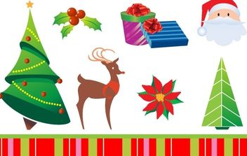 CHRISTMAS ICONS - Free vector #176901