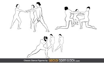 Classic Dance Figures - Free vector #176911