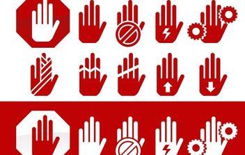 Hand hazard symbols - Free vector #177011