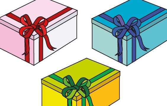 Pink, blue and green gift Boxes - Kostenloses vector #177111