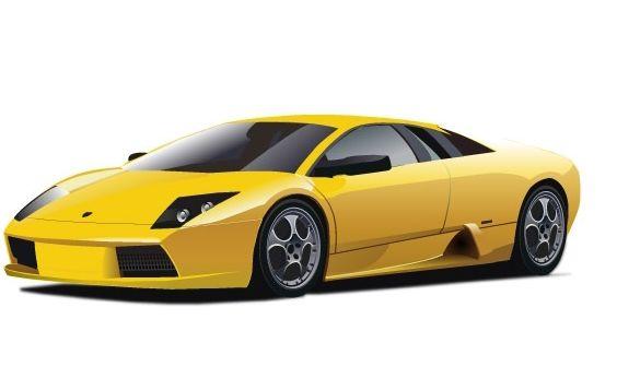 Yellow Lamborghini - Free vector #177121