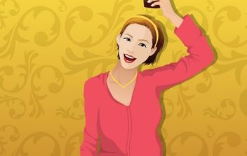 Beautiful girls vector - vector gratuit #177361