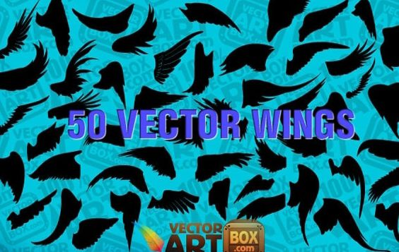 Free Wings Silhouettes - vector #177481 gratis