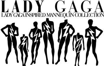 Lady Gaga Mannequin Vectors - Free vector #177811