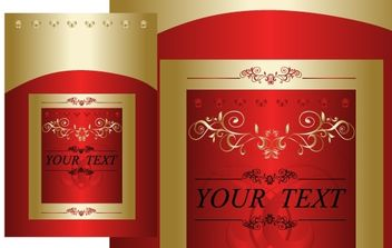 Red and Gold Free Vector Cover Design - бесплатный vector #177871