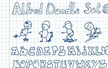 Alfred Doodle Set 6 - Free vector #178501