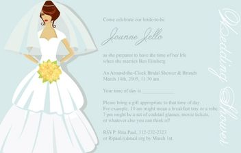 Bridal Shower Card - vector #178541 gratis
